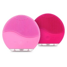 Electric Facial Cleansing Brush Silicon Vibration Mini Cleaner Deep Pore Cleaning Skin Massage face brush cleansing  Beauty Tool