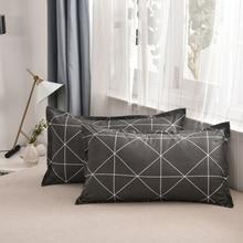 1 шт. 48*74 см Прямоугольный Хлопковый чехол для подушки супер мягкий чехол s моющийся домашний чехол для кровати 301-0822