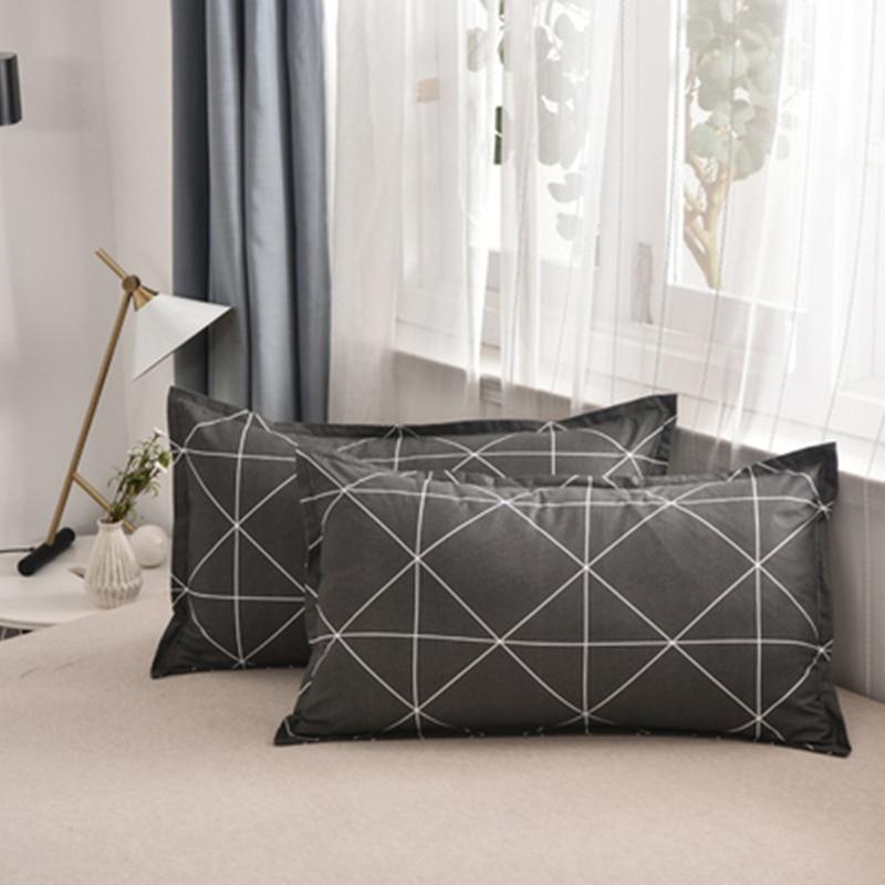 1 piece 48*74cm Rectangle cotton Throw Pillow Case Super Soft Pillowcases Washable Home Bed Adornment Pillowcase 301-0822