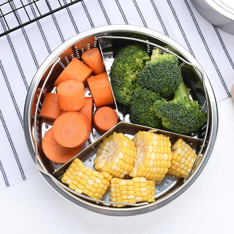 New Stainless Steel Pot Steamer Basket Egg Steamer Rack Divider For Pressure Cooker Pot NE