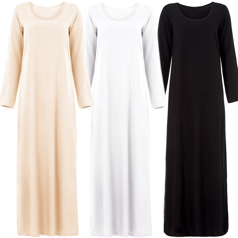 Inside Wear Abaya Arabic Pakistani Muslim Dress Turkey Vestido Hijab Islamic Tesettur Elbise Robe Musulmane Longue Caftan Kaftan