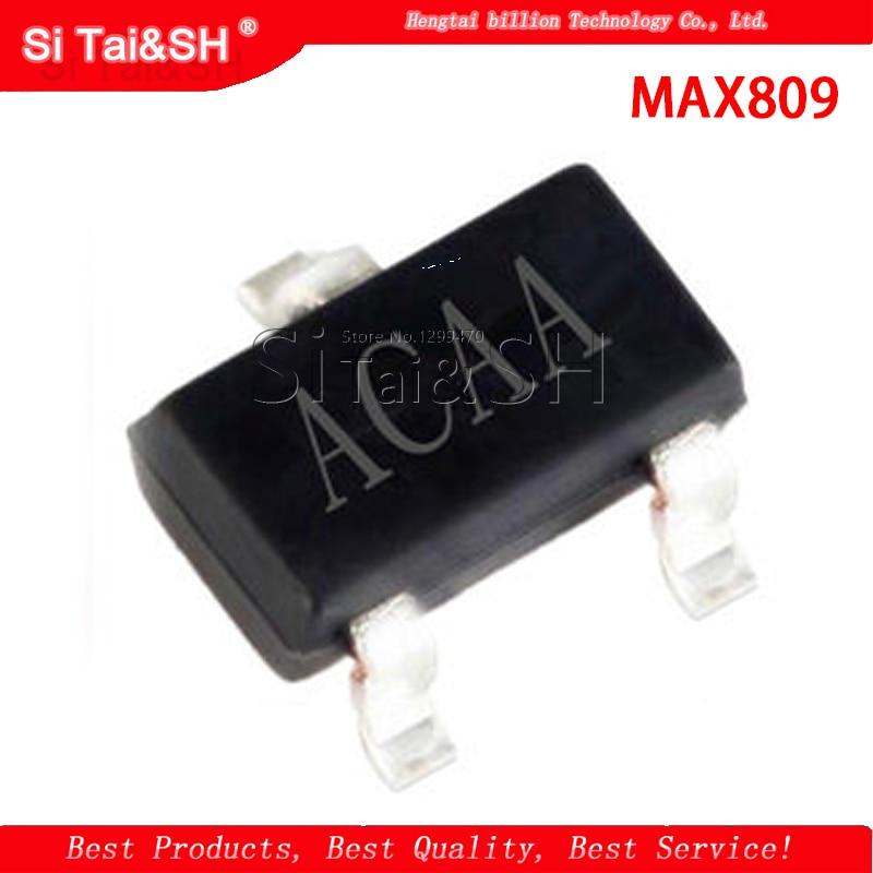 10 pcs/lot MAX809 MAX809T MAX809TEUR LACAA SOT-23