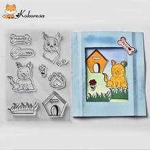 Kokorosa Clear Stamps Animals Rubber Stamp Scrapbooking Album Decor Transparent Decoration