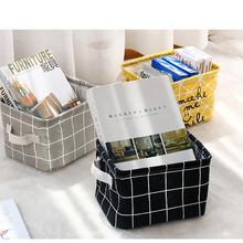 Foldable Storage Basket Bin Closet Sundries Books Box Container Organizer Fabric Home Desktop Baskets Bag