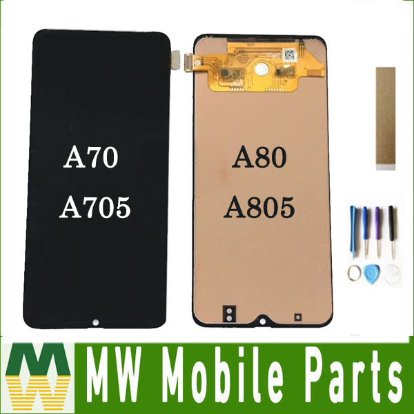 For <font><b>Samsung</b></font> Galaxy A7 2019 <font><b>A70</b></font> A705F A705 A8 2019 A80 A805F A805 <font><b>LCD</b></font> Display Touch Sensor Digiziter Assembly Module With Tools image