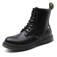 Women Boots Genuine Leather Ankle Martin Boots