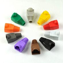 Original rj45 strain relief botas ethernet rj45 conector botas plug cover rj45 botas tampa para cat5e/6 ethernet cabo