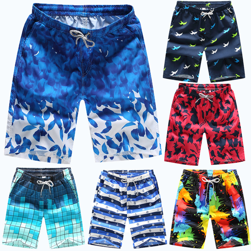 Summer Beach Shorts MEN'S Loose Shorts AliExpress Hot Selling Male Fifth Pants Plus-sized Menswear Quick-Dry Beach Shorts