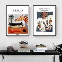 Абстрактный плакат с принтами Картина на холсте настенная живопись