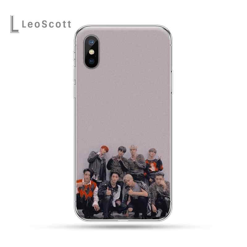 Ateez kpop erkek grubu lüks telefon kılıfı için iphone 4 4s 5 5s 5c se 6 6s 7 8 artı x xs xr 11 pro max