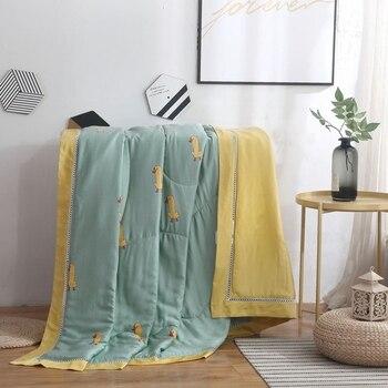 New Summer Quilt / Comforter Satin bamboo fabric bedlinen Duck animal cartoon Quilted Blanket Duvet single twin queen king size