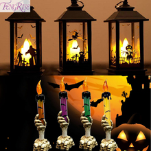 FENGRISE Halloween Portable LED Lighthouse Candle Lamp 2019 Decoration Accessories Home Decor Hallowen Party