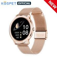 2021 KOSPET R18 Smartwatch Waterproof Smart Watch Women Lovely Bracelet Blood Pressure Monitor Lady Wrist Clock For IOS Android