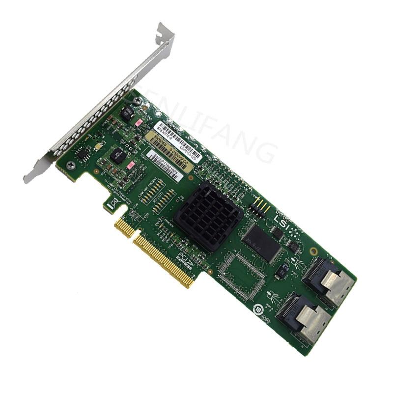 Raid Card For LSI SAS 3081E-R LSISAS1068E B3 8 Port HBA JBOD SFF8087 MiniSAS 3Gb PCI-E X8 Controller Card