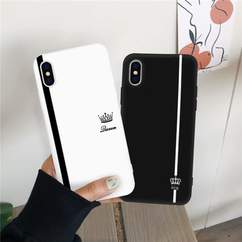 Crown Couples TPU iPhone Case