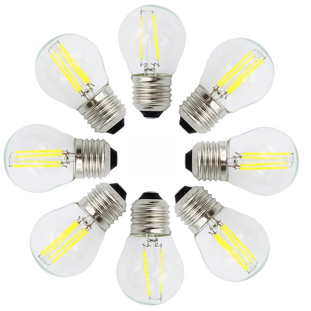 Vintage Retore Edison E27 LED Filament Light Bulbs 4W 8W 12W Lamp 220V 40W 80W 120W Incandescent Equivalent For Home Decoration