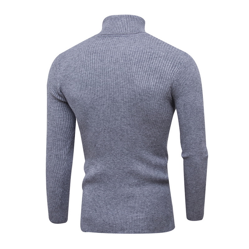 Dihope Spring Warm Turtleneck Sweaters Men Fashion Solid Knitted Mens Sweaters 2018 Casual Male Double Collar Slim  Pullover