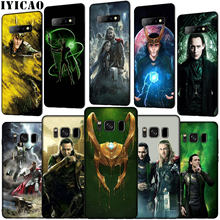 IYICAO Marvel Hero en Loki Zachte Siliconen Telefoon Geval voor Samsung Galaxy S10 E S9 S8 Plus S6 S7 Rand s10e TPU Zwarte Cover(China)