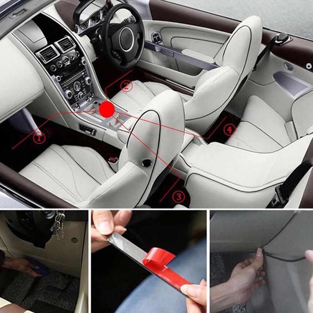 سيارة 9 LED الداخلية 5050 أضواء الجو التحكم عن بعد داش الطابق القدم قطاع أضواء ولاعة السجائر محول مصباح للزينة