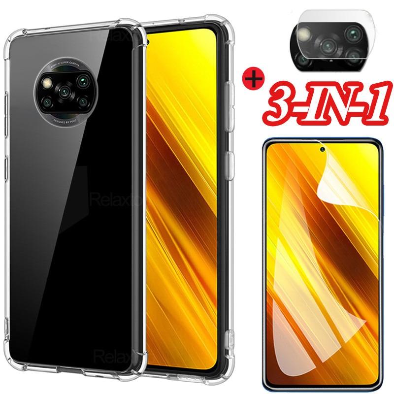 Case For Xiaomi Poco X3 Cases Poco F3 Camera Film Protective Phone Case Poxo X3 Nfc Cover Transparente Case Pocco X3 Nfc Funda Phone Screen Protectors Aliexpress