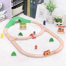 ילדים חשמלי רכבת צעצועי סט מגנטי Diecast חריץ רכבת צעצוע FIT עץ רכבת Bri o עץ רכבת מסלול צעצועי עבור ילדי מתנות