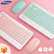 Teclado y ratón Bluetooth para Apple, Teclado inalámbrico para iPad, Xiaomi, Samsung, Huawei, tableta, Android, IOS, Windows