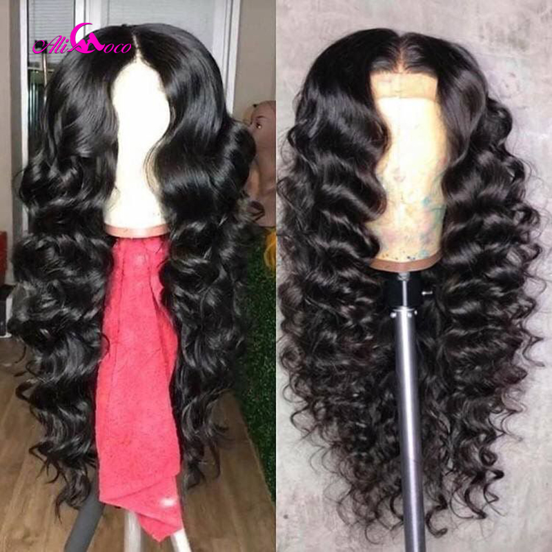 Image 3 - Brazilian Deep Wave Lace Front Human Hair Wigs Front Lace Wigs With Baby Hair Pre Plucked Natural Hairline 150% Remy Ali coco-in Human Hair Lace Wigs from Hair Extensions & Wigs