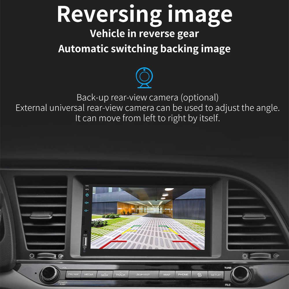 7 ''フルスクリーンタッチ車ラジオ MP5 プレーヤーサポート本物のリンゴのための Iphone の Bluetooth HD ビデオ再生 Carplay 逆カメラ USB AUX