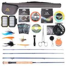Maximumcatch Saltwater Fly Fishing Full Kit 9ft 8-12wt Fly Fishing Rod CNC-machined Aluminum Fly Reel недорого
