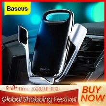 Автомобильный держатель для телефона Baseus для iPhone 11 Pro Max 15 Вт Qi, беспроводное зарядное устройство для Xiaomi Redmi Note 8 Pro, держатель для быстрой беспроводной зарядки