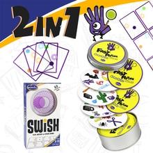 Gioco di logica Swish UN Divertimento Trasparente educazione gioco di carte logica giochi per bambini carte da gioco spot giochi da tavolo giocattoli per I Bambini