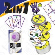 Gra logiczna Swish zabawa przejrzysta edukacja gra w karty logiczne gry dla dzieci karty do gry spot board zabawki do gry dla dzieci