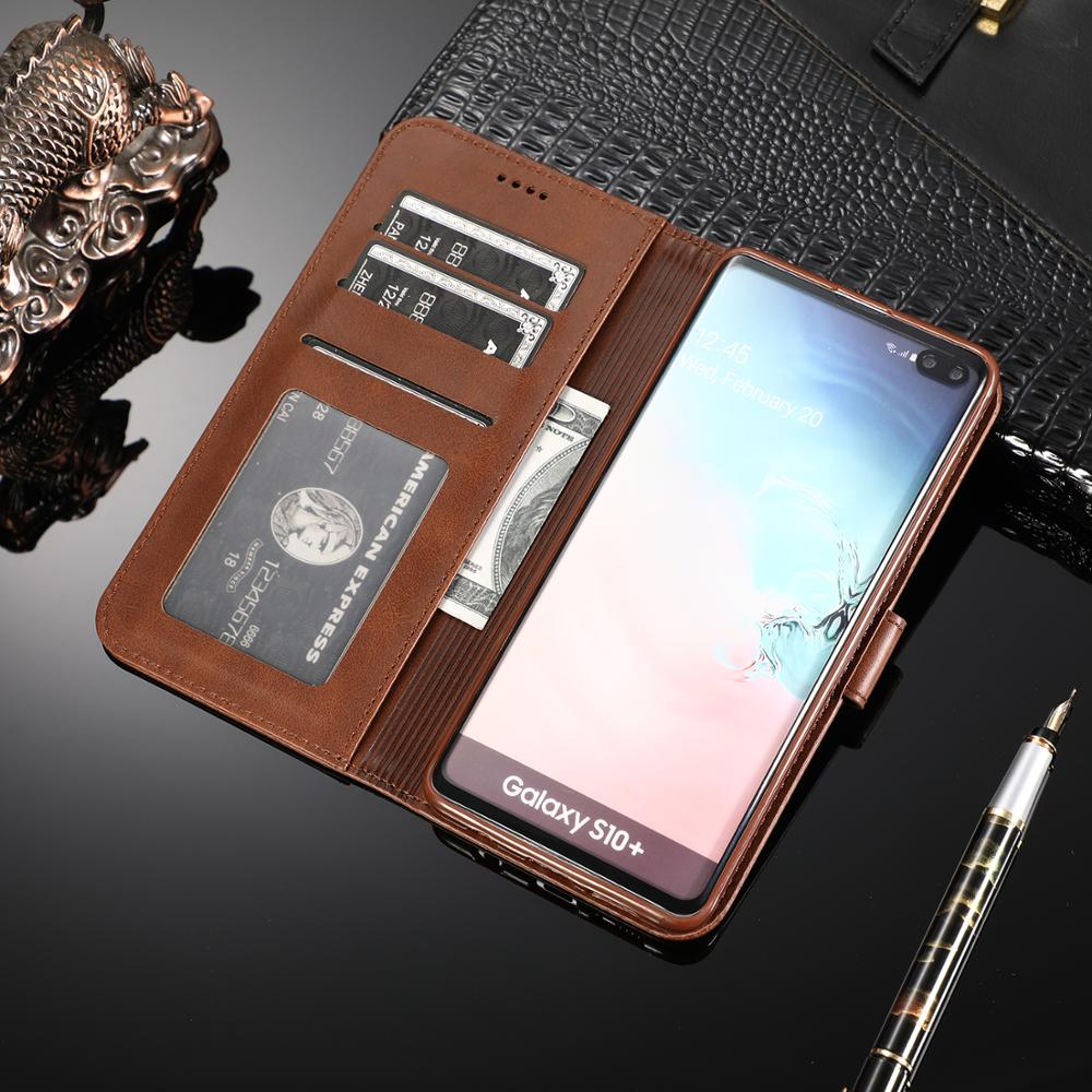 Leather Flip Phone Case For Samsung Galaxy S8 S9 S10 Plus Case For Samsung Galaxy S10E S10(5G) <font><b>A72018</b></font> A92018 wallet etui Funda image