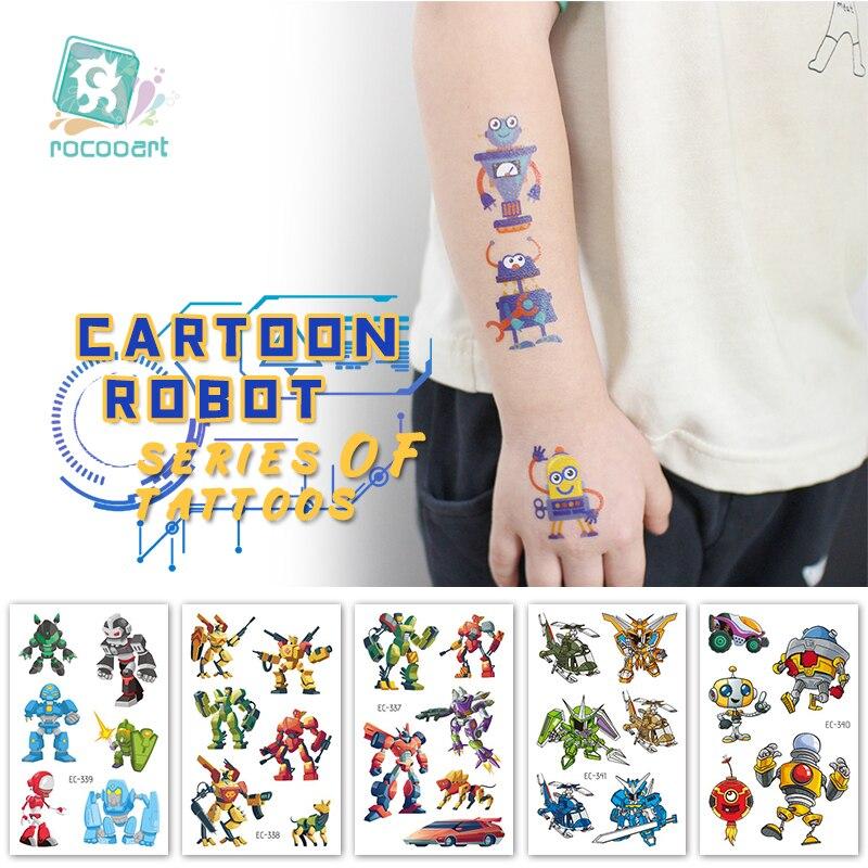 Desenhos animados carros de transferência robô tatuagens temporárias para meninos arte do corpo tatoos filme em quadrinhos herói tatuagem adesivo crianças chilren presentes