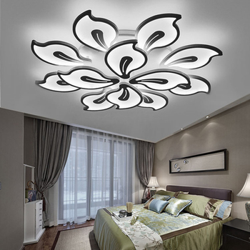 Modern LED Chandelier Lustre Lighting Remote Control For Living Room Bedroom Kitchen Ceiling Chandelier Acrylic Fixture Light