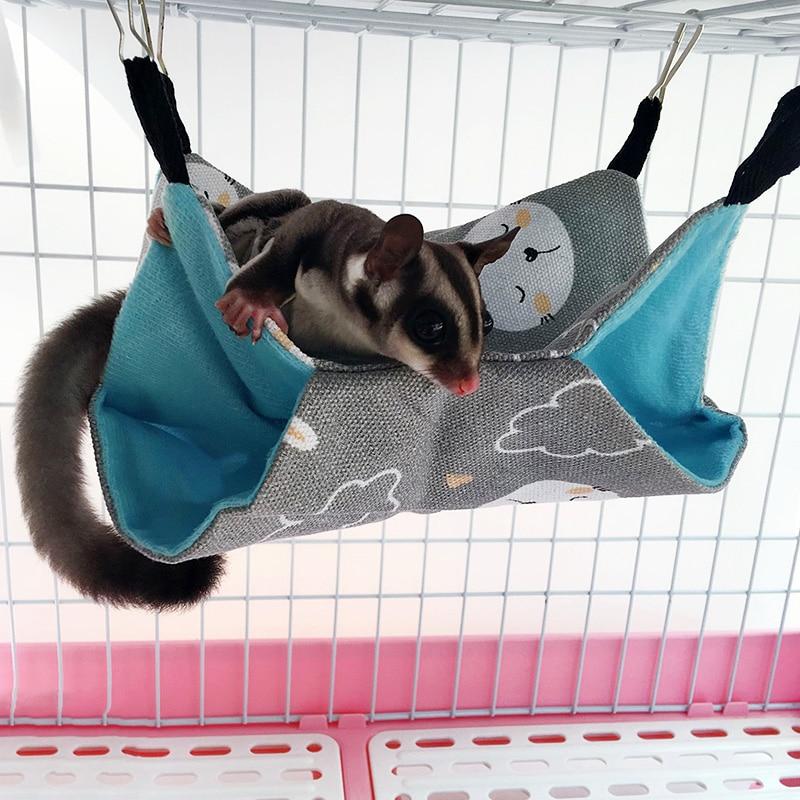Cama De Hamaca para Mascotas De Tres Capas Accesorios para Jaulas De Conejillo De Indias Ropa De Cama Cama Colgante C/álida para Ardillas De Hur/ón Chinchillas Hamaca De Jaula para Mascotas