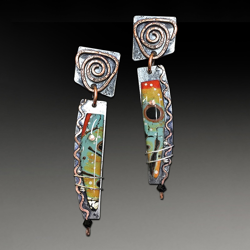 Племенной спираль с цветным камнем длинные Винтажные серьги ювелирные изделия твист подвеска ввиде бронзового, с рисунком в виде картины г...