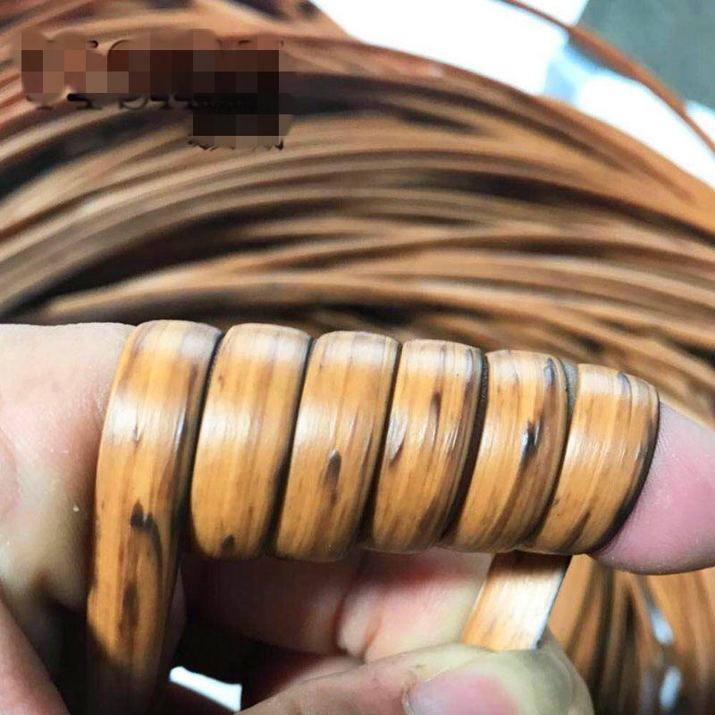 500G/lot Wood Grain Colorgradient Flat Synthetic Rattan PE Rattan Weaving Material Plastic Rattan For Knit And Repair Chair Ect