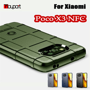 Rugged Shield Silicon Case For Xiaomi Poco X3 NFC Global Version Military Heavy Duty Protect Phone Cover Poco X3 Case Shockproof