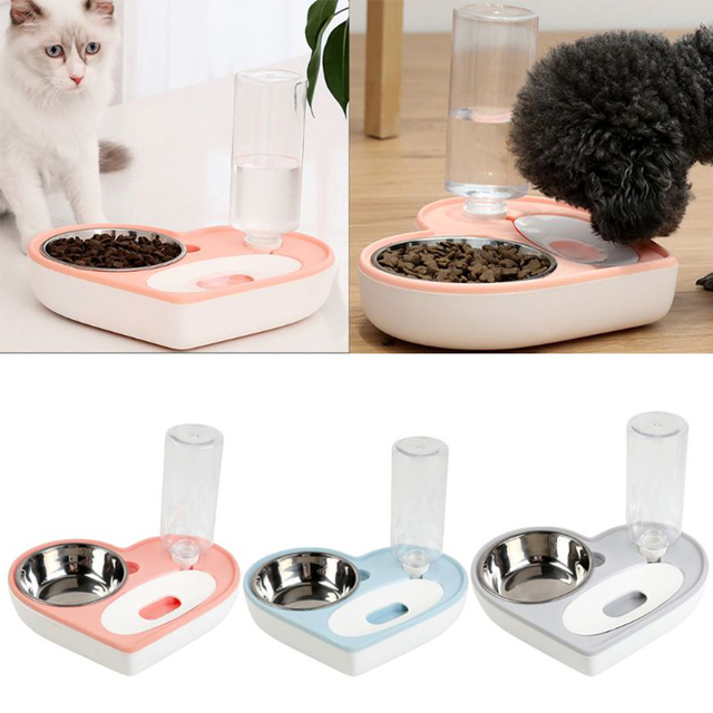 Automatic Water Dispenser For Cats/Dogs With Stainless Steel Food Bowl  6