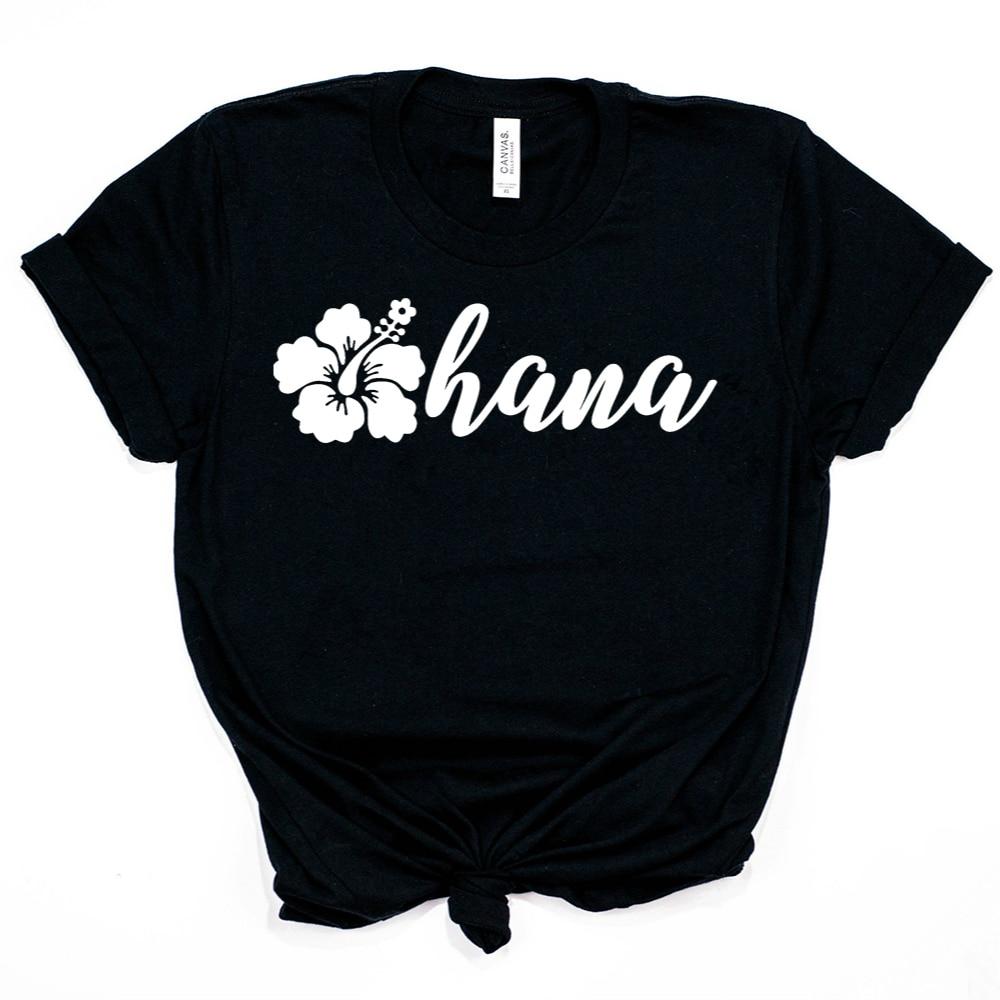 2019 Ohana T-Shirt Inspired By Lilo & Stitch Floral Ohana Shirt Funny Ohana Means Family Shirts Hipster Tees