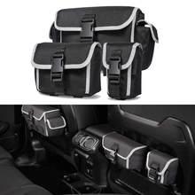 Para jeep wrangler jl rubicon jk tj 1997-2020 organizadores saco de armazenamento assento traseiro porta bags estiva tidying acessórios do carro