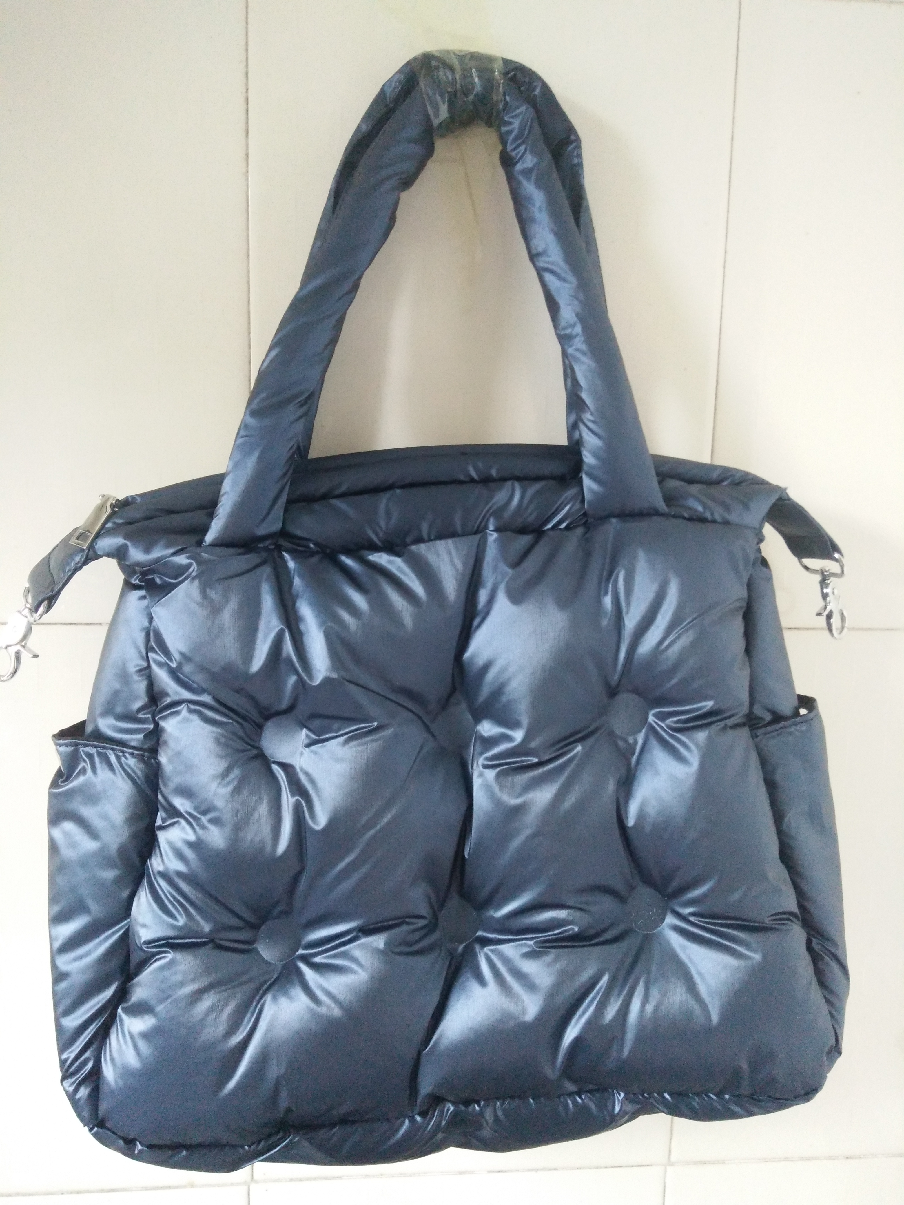 Image 5 - Winter new Women Space Pad Cotton Feather Down Bag Bucket Handbag  nylon Shoulder Tote sac a main carteira Bolsa Feminina