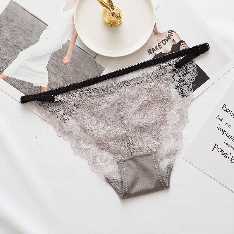 Сексуальные кружевные трусики, женское нижнее белье с низкой талией, хорошее качество, женские трусы с низкой талией, регулируемые трусы с л...