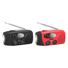 High Sensitivity Clear Volume Radio Multifunctional Radio Hand Crank Solar USB Charging FM AM WB NOAA Weather Radio