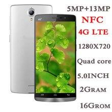 4g lte versão global smartphones 7t 2g ram + 16g rom 5.0 polegada tela cheia quad core 5mp + 13mp nfc telefones celulares android celuares