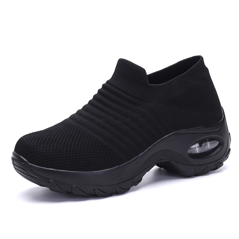 Women Sneakers Fashion Casual Shoes Breathable Knit Ladies  Sneakers PU Soft Platform Large Size Shoes Socks Shoes 4268 Orders