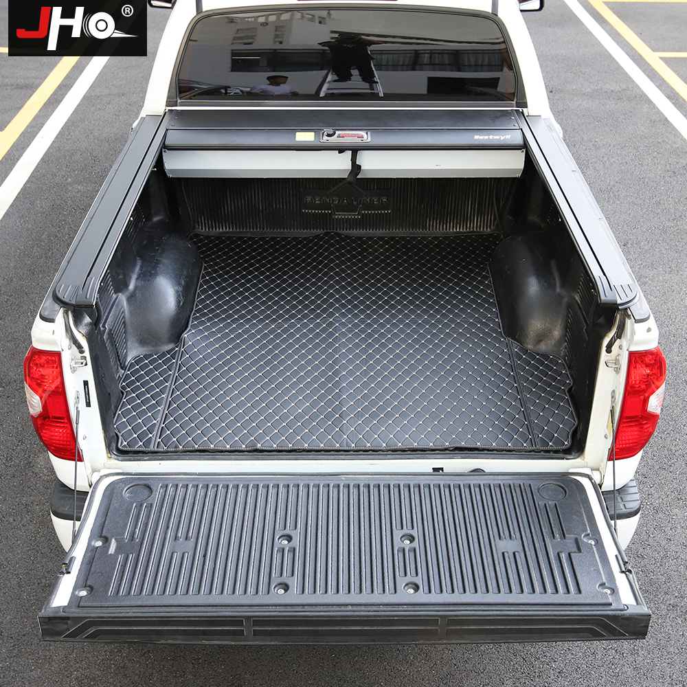 JHO Truck Bed Cargo Liner Protective Cover Mat For Toyota Tundra 2014-2020 4-door Crew Cab 2019 2018 2017 2016 Car Accessories