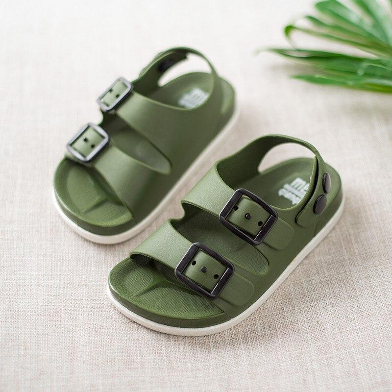 Toddler Little Kids Summer Sandals Non-Slip Boys Girls Slide Lightweight Beach Water Shoes For Children Casual Slippers 1-4 Year