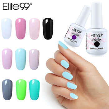 Elite99 8ml UV Gel Nagellack Tränken Weg Pure Farbe UV LED Hybrid Lack Vernis Semi Permanent Emaille Lack nail art GelLak